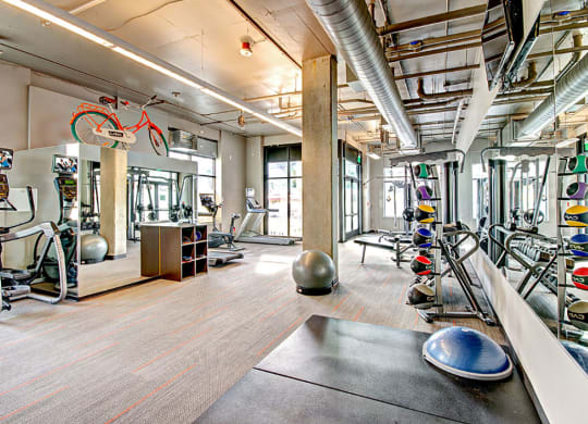 Community Fully Equipped Fitness Center at Link Apartments in