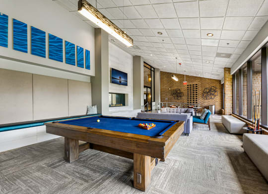 Billards In Clubhouse At Iroquois Club Apartments In Naperville, IL