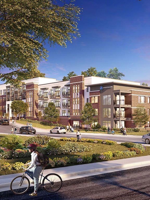 Apartment Exterior at Link Apartments® Linden, Chapel Hill, NC, 27517