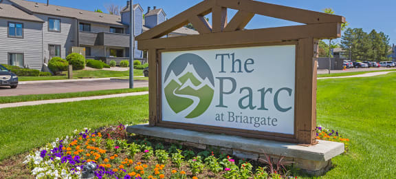 Welcoming Property Signage at The Parc at Briargate, Colorado Springs, CO, 80920