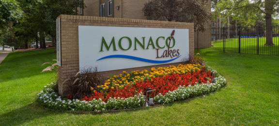 Welcoming Property Signage at Monaco Lakes, Denver, CO, 80222