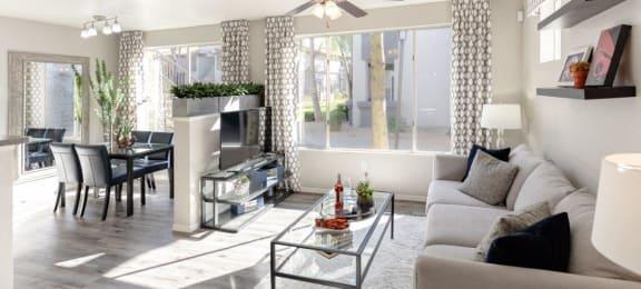 contemporary interior of apartment unit