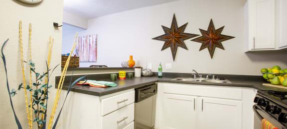 Kitchen at Villas de la Terraza Apartments in Albuquerque NM October 2020