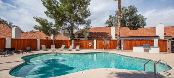 Pool at Orange Tree Village Apartments in Tucson AZ