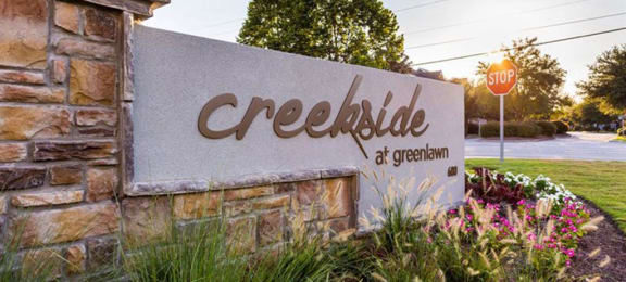 creekside monument sign