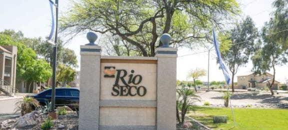 Welcoming Property Signage at Rio Seco Apartments, Tucson, 85746