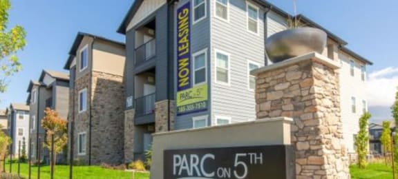 Welcoming Property Signage at Parc on 5th Apartments & Townhomes, American Fork, UT
