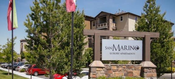 Property Sign at San Marino Apartments, South Jordan, Utah