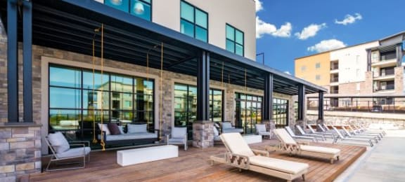 Lounging By The Pool at Soleil LoftsApartments, Herriman, UT