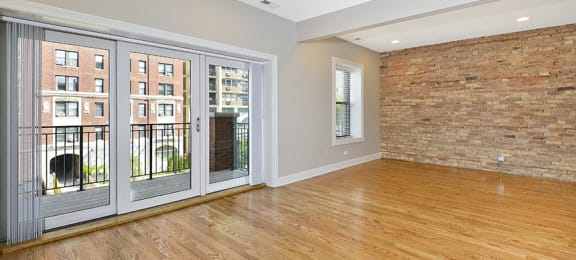 Hardwood Floors at The Belmont by Reside Flats, Chicago, IL,60657