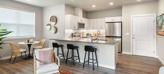 Living space at Zera at Reed Crossing