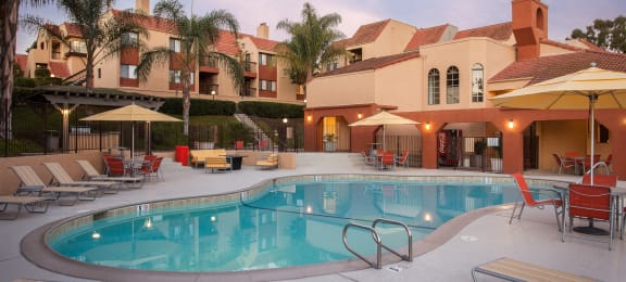 Pool at Canyon Villa Apartment Homes, Chula Vista, 91910