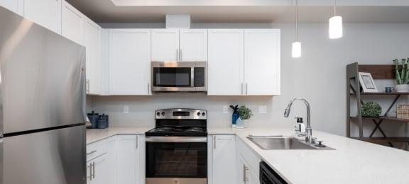 Kitchen at Village on Main Apartments
