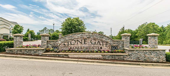 stonegate sign at Stone Gate Apartments, Spring Lake, NC, 28390
