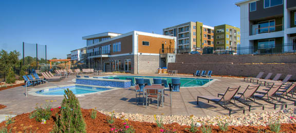 Sparkling Pool at Fusion 355 in Broomfield, CO 80021