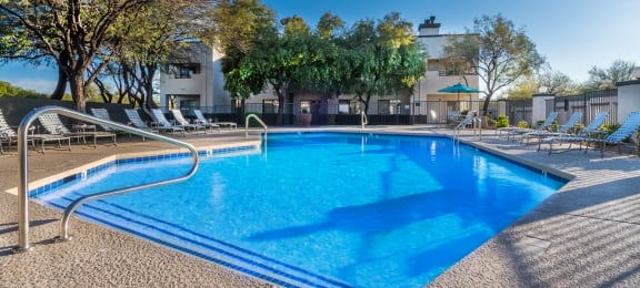 Villas at Montebella pool view with plenty of relaxation areas