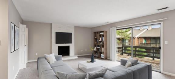 Model living room & patio
