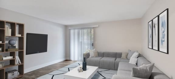 Furnished model living room