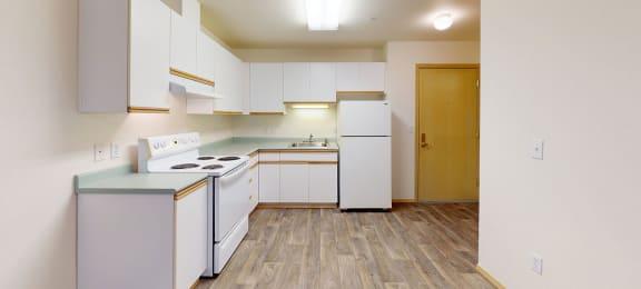 Kitchen cabinets at Alderwood Court in Lynwood WA