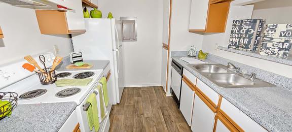 Kitchen at Valley Ridge Apartments in Lewisville TX
