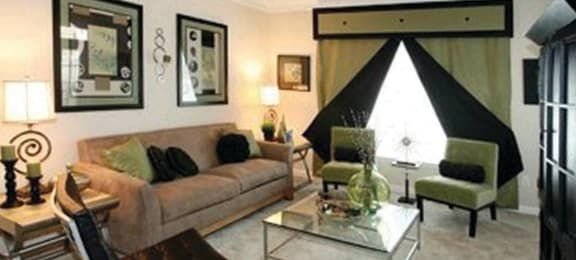 Living room at Lakeside Vista Apartments in Kennesaw, GA