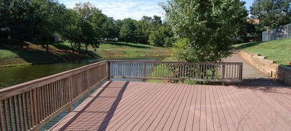 man made lake at Brentwood Apartment Homes in Manassas, VA