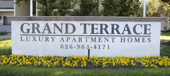 Monument Sign Grand Terrace Luxury Apartment Homes  California 91740