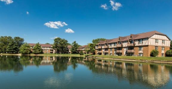 Scenic Lake Within Community at Bavarian Village Apartments, Indiana