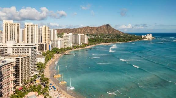 Stock photo of Honolulu beach