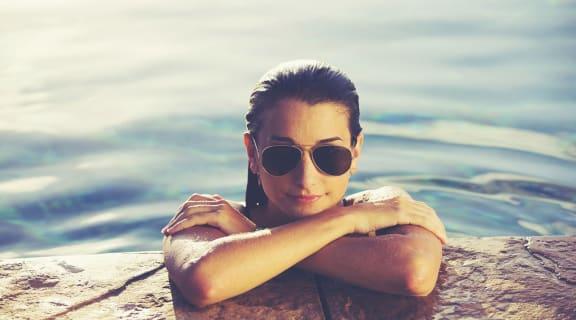 stock image- Woman in Pool