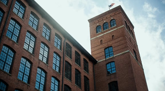 Exterior of Loray Mill Apartments