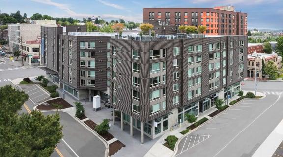 Viva Apartments Building Exterior and Street Corner
