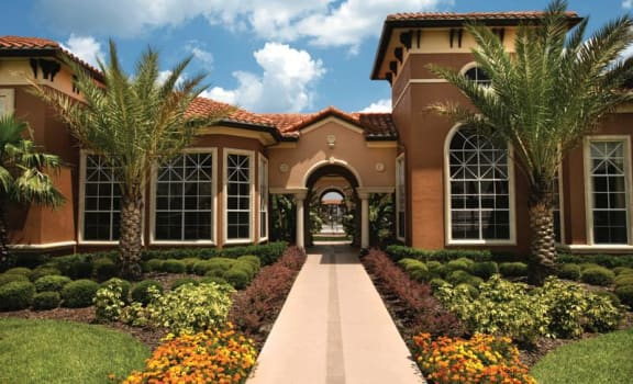 Clubhouse Entrance at The Palms Club Orlando Apartments, Florida