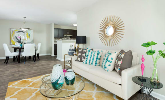 Living Room With Dining Area at Marbella Place, Stockbridge, GA
