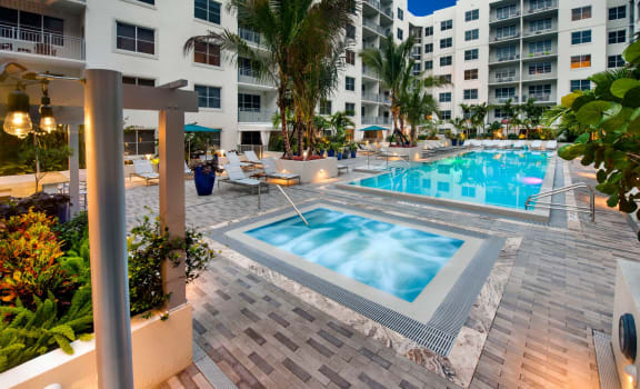 Hot Tub And Swimming Pool at Berkshire Lauderdale by the Sea, Ft. Lauderdale, 33308