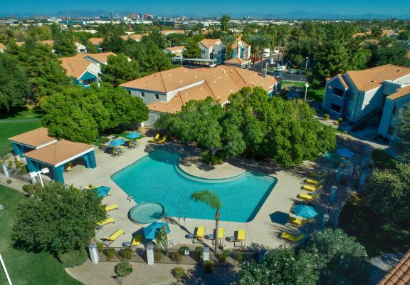 Galleria Palms Aerial Pool