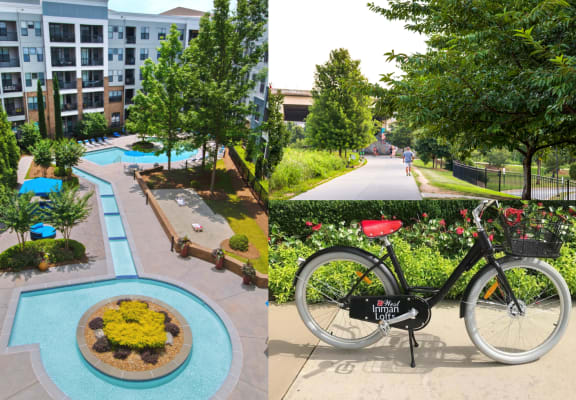 west inman home page image of  the pool, bike and beltline access
