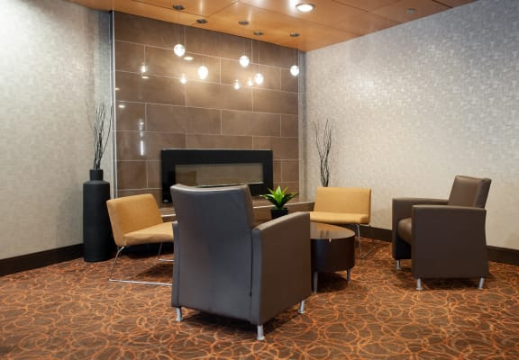 Lobby-Area at 190 Smith Luxury Apartment Suites, Winnipeg, Manitoba