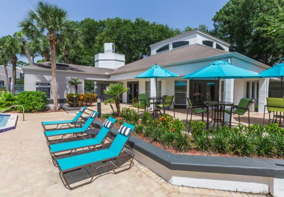 Granite at Porpoise Bay Apartments Daytona Beach pool deck