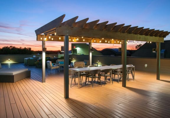 Rooftop Lounge at Overlook on the Creek, Minnesota, 55305