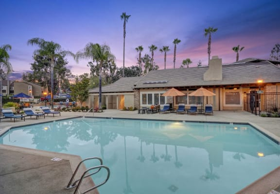 Poolside Relaxing Area, at Park Pointe, El Cajon, 92019