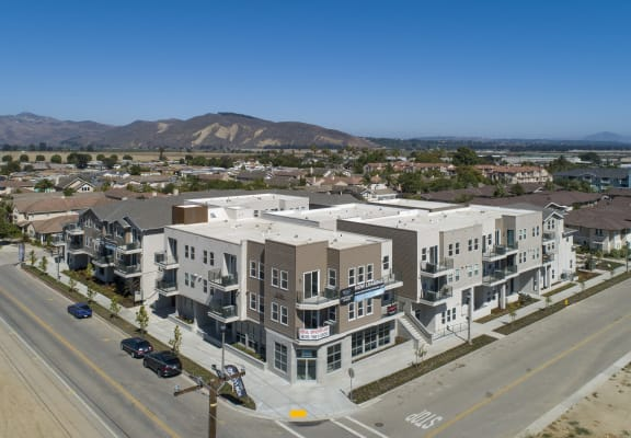YOLO West aerial view of exterior building
