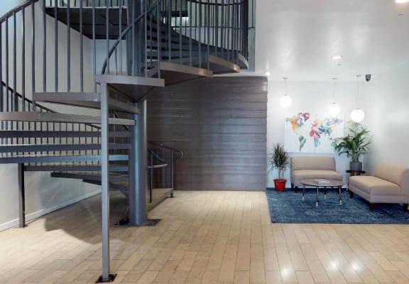 5015 Clinton Apartments spiral staircase