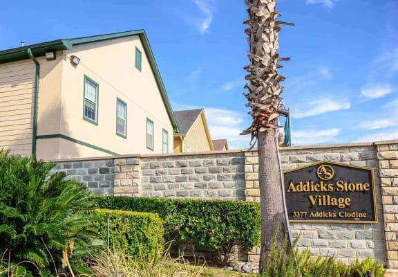 Property Signage at Addicks Stone Village, Houston, TX, 77082