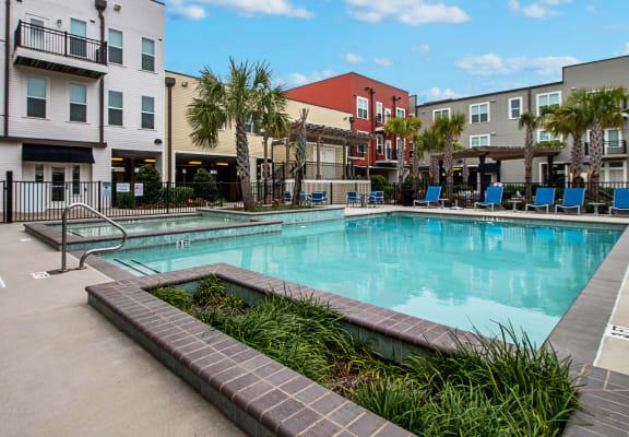 Outdoor pool_Cedars at Carver Park Galveston, TX