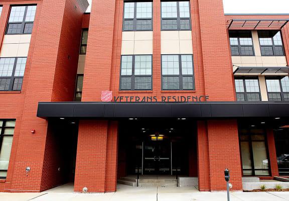 Front exterior building-Salvation Army St. Louis Veterans Housing, St. Louis, MO