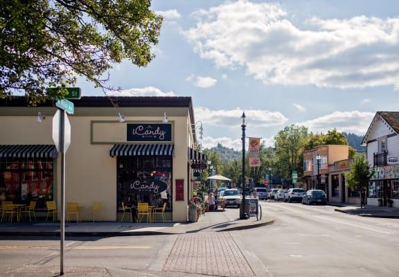 Gresham, Oregon Neighborhood Street Corner