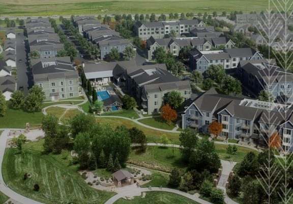 Aerial View Of The Community at PARK40, Broomfield, 80023