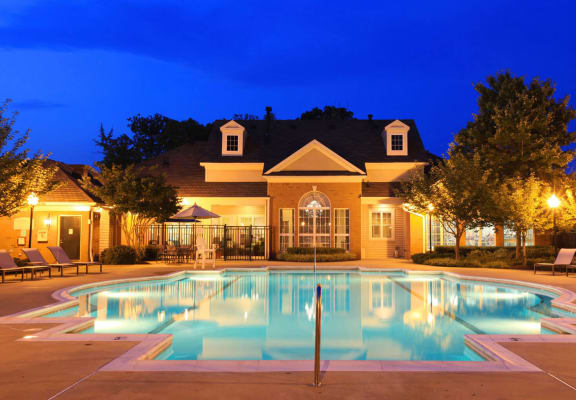 Pool With Clubhouse View at Berkshire Annapolis Bay, Maryland