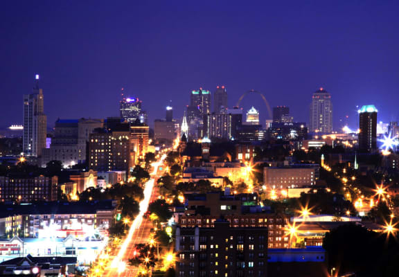 Night View Of City at Towne House, Missouri